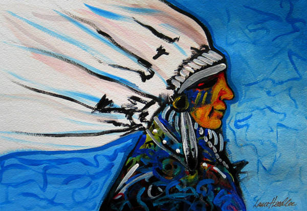 Painting - Feather Head by Lance Headlee