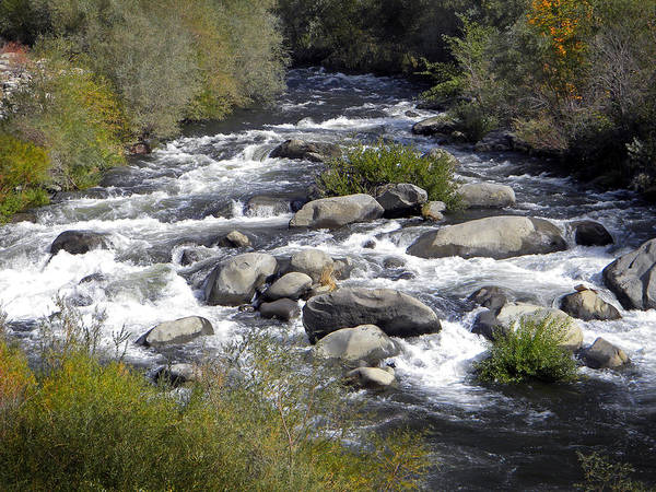 Photograph - Feather River White Water by Frank Wilson