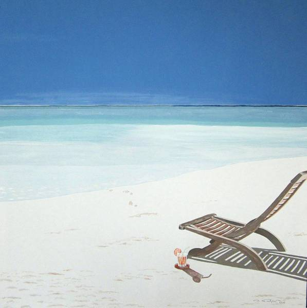 Laguna Beach Painting - Feel The Sun... by Ingrid Stiehler