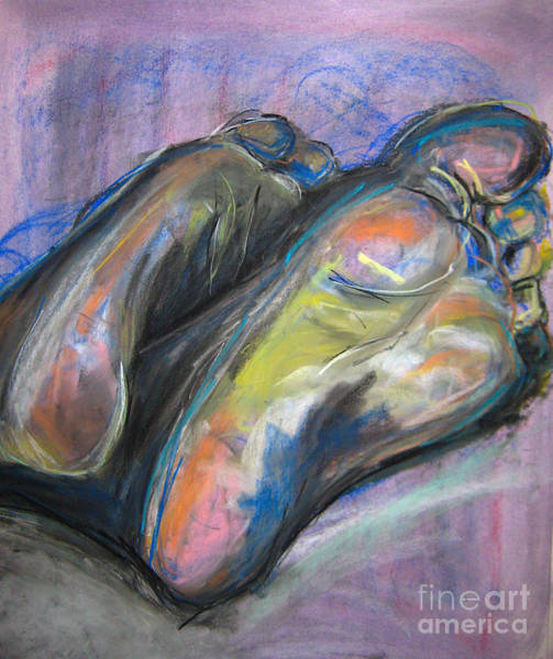 Art Print featuring the drawing Feet by Gabrielle Wilson-Sealy