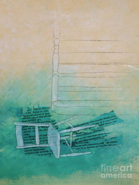 Chair Mixed Media - Fell by Paul OBrien