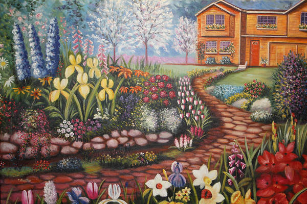 Painting - Feller's Dream by Lynn Buettner