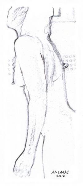 Filipino Drawing - Female Nude 10 by Apollo Neil Casas