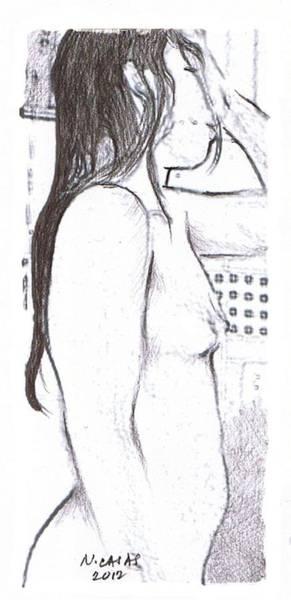 Filipino Drawing - Female Nude 13 by Apollo Neil Casas
