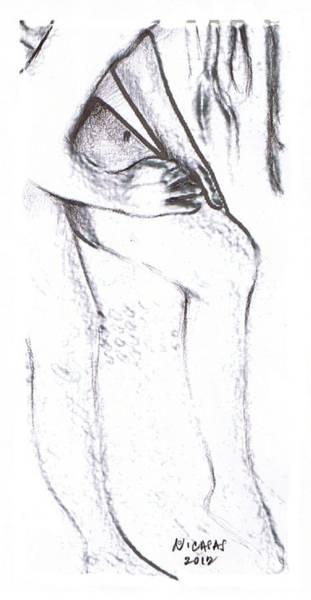 Filipino Drawing - Female Nude 16 by Apollo Neil Casas