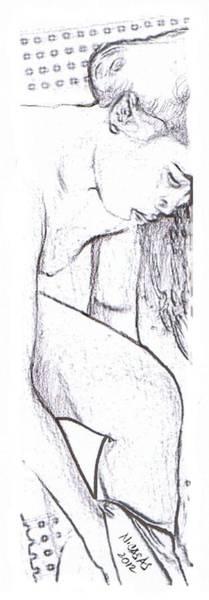 Filipino Drawing - Female Nude 2 by Apollo Neil Casas