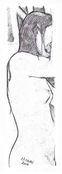 Filipino Drawing - Female Nude 5 by Apollo Neil Casas