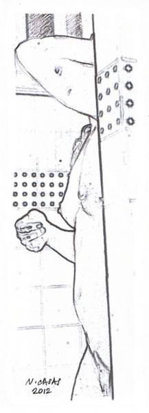 Filipino Drawing - Female Nude 7 by Apollo Neil Casas