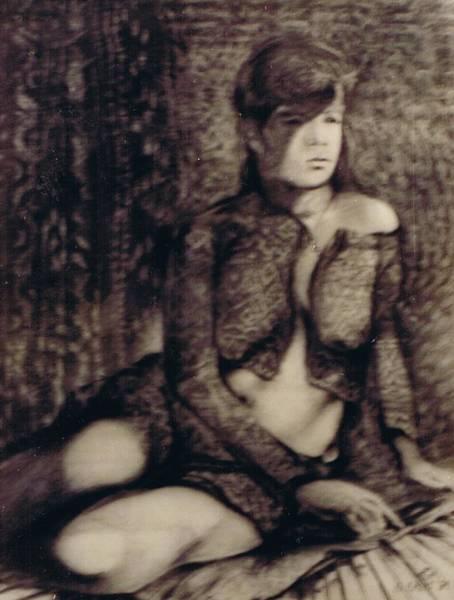 Filipino Drawing - Female Nude  by Apollo Neil Casas