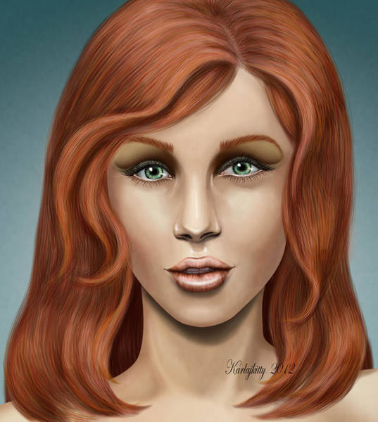 Digital Art - Female Portrait Study by Karla White