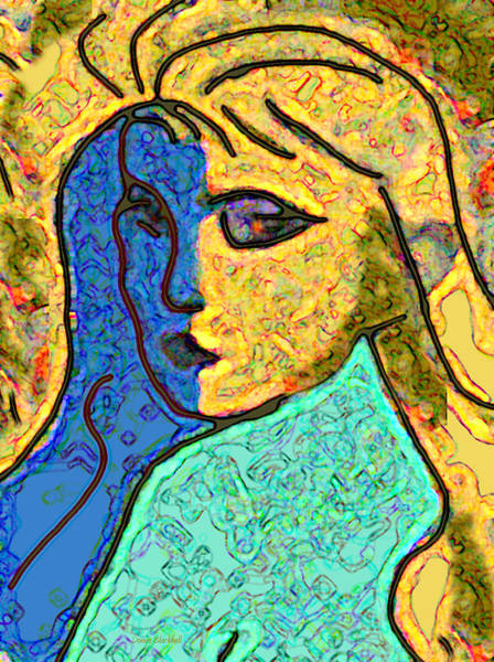 Donna Digital Art - Feminine Kaleidoscope by Donna Blackhall