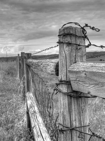 Photograph - Fence And Wire by HW Kateley
