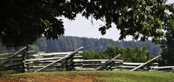 Between The Trees Photograph - Fence At Appomattox by Teresa Mucha
