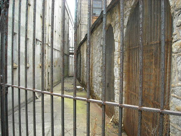 Photograph - Fenced Alleyway by Christophe Ennis