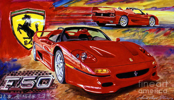 Painting - Ferrari F50 by David Lloyd Glover