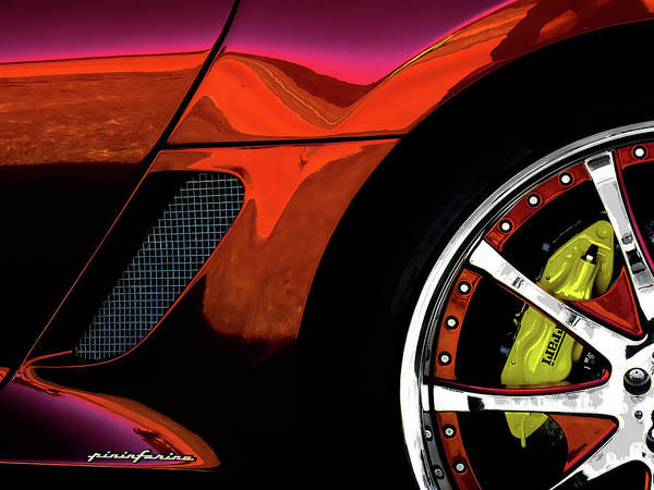 Ferrari Wheel Detail Art Print