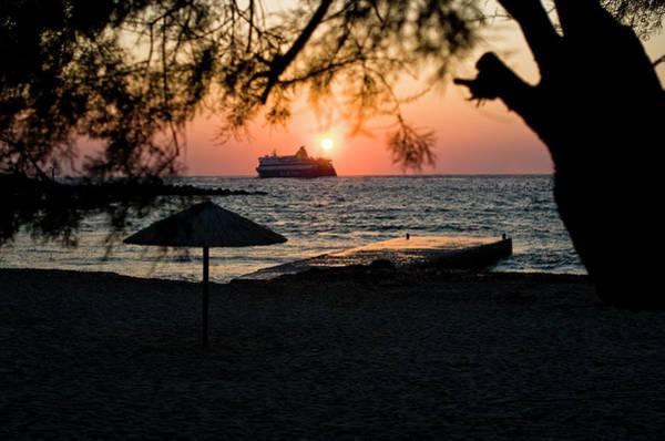 Photograph - Ferry Meets Setting Sun  by Lorraine Devon Wilke