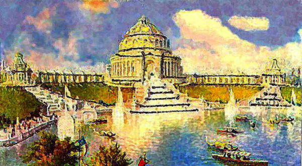 Louisiana Purchase Painting - Festival Hall And Cascades In St. Louis Mo  World's Fair 1904  by Dwight Goss