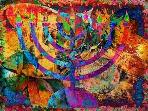 Judaica Digital Art - Festival Of Lights by YoMamaBird Rhonda