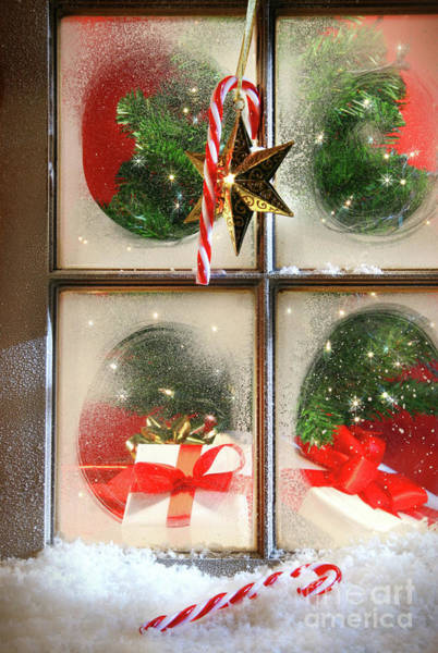 Wall Art - Photograph - Festive Holiday Window by Sandra Cunningham