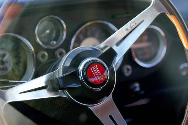 Photograph - Fiat Steering Wheel by Jill Reger