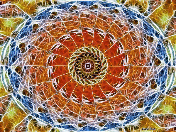 Oval Digital Art - Fiber Eye by Stephen Younts
