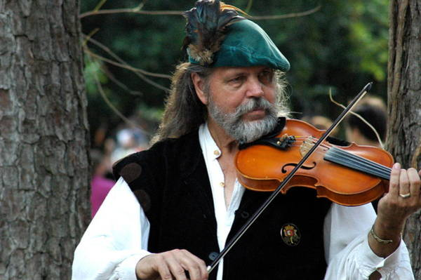 Photograph - Fiddle Player by Teresa Blanton