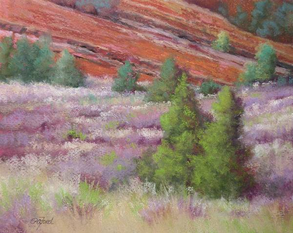 Wall Art - Painting - Field At Red Rock by Paula Ann Ford