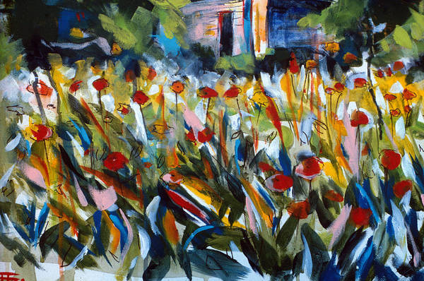 Painting - Field Of Flowers by John Jr Gholson