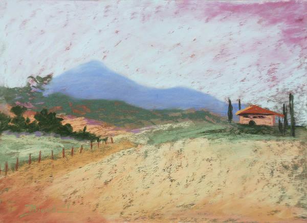 Pastel - Fields Of Tuscany by Janet Biondi