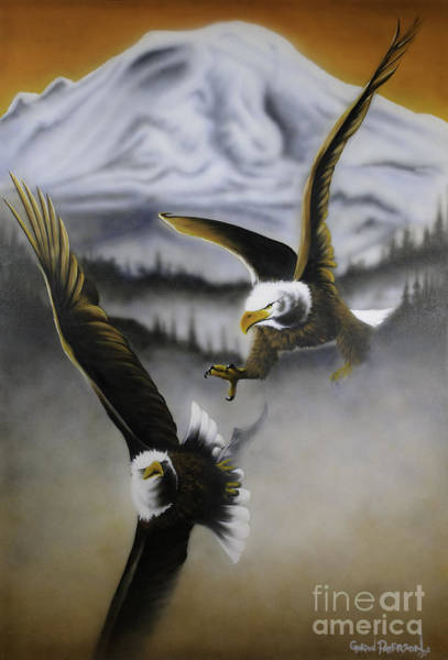 Painting - Fight In Flight 1 by Gordon Paterson