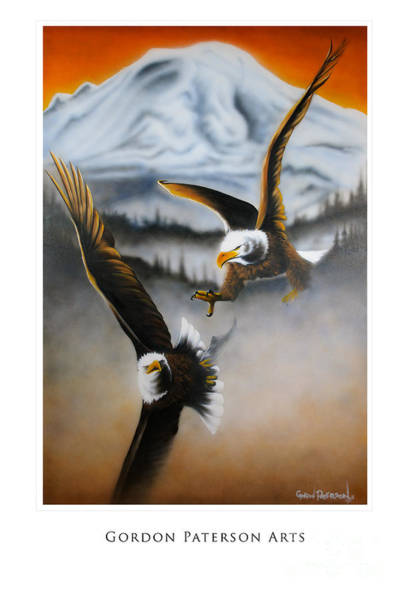 Painting - Fight In Flight by Gordon Paterson
