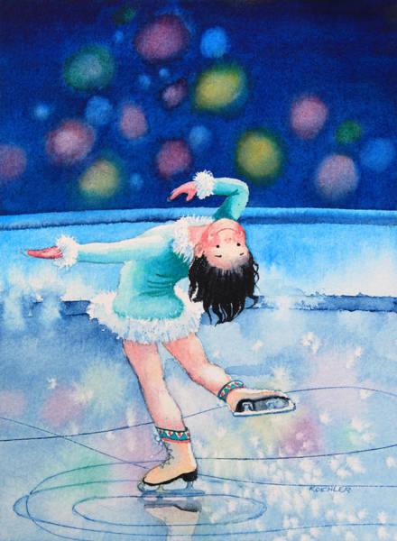Olympic Figure Skating Painting - Figure Skater 16 by Hanne Lore Koehler