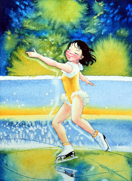 Olympic Figure Skating Painting - Figure Skater 18 by Hanne Lore Koehler