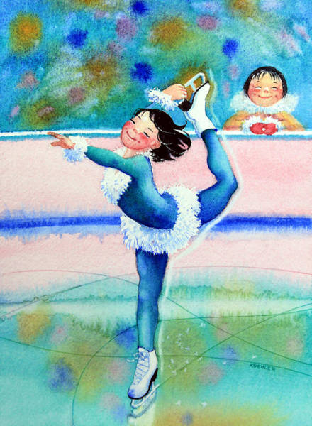 Olympic Figure Skating Painting - Figure Skater 19 by Hanne Lore Koehler