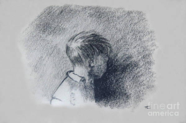 Drawing - Figure Study by Tom Luca