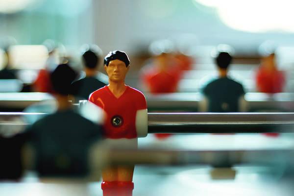 Teamwork Photograph - Figurine Of Football Player by D.Reichardt