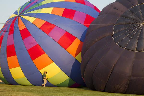 Balloon Festival Photograph - Filling Up by Betsy Knapp