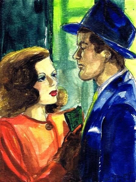 Nostalgia Drawing - Film Noir by Mel Thompson