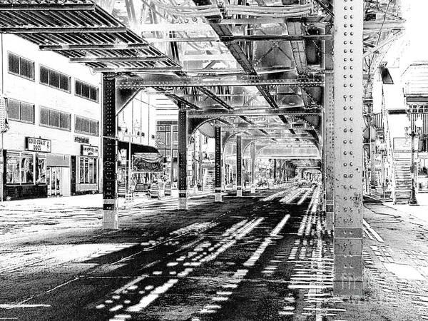 Wabash Avenue Wall Art - Photograph - Filtered Light by David Bearden
