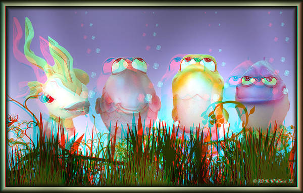 Anaglyph Photograph - Finding Nemo Figurines - Red And Cyan 3d Glasses Required For Viewing by Brian Wallace