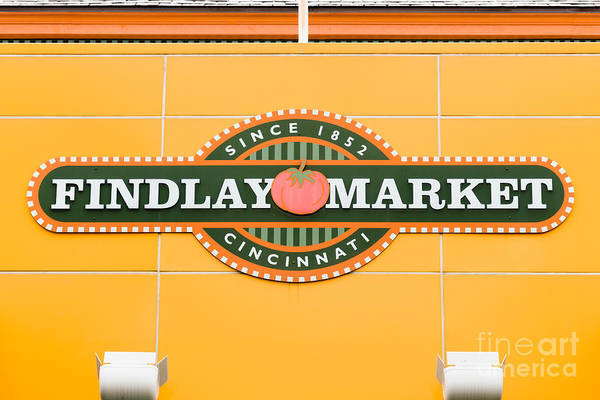 Findlay Market Photograph - Findlay Market Sign In Cincinnati Ohio by Paul Velgos