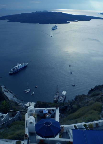 Photograph - Fira Town View Santorini by Colette V Hera  Guggenheim