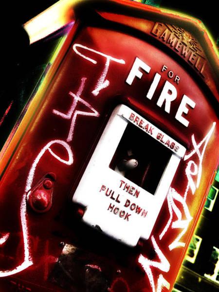 Insurance Digital Art - Fire Alarm by Brian Gregory
