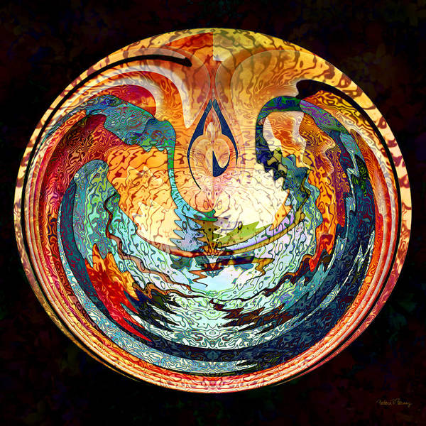 Digital Art - Fire And Water by Barbara Berney