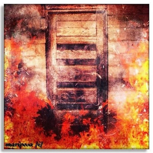 Edit Photograph - Fire Escape by Mari Posa
