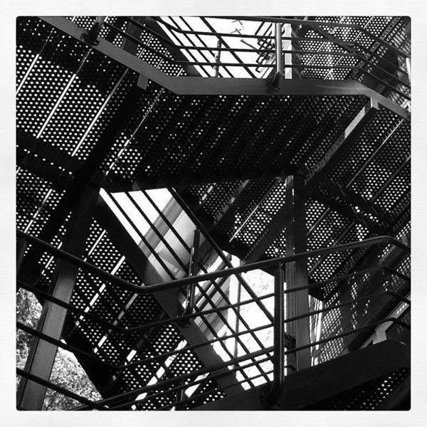 Line Wall Art - Photograph - Fire Escape. #steel #construction by Robbert Ter Weijden