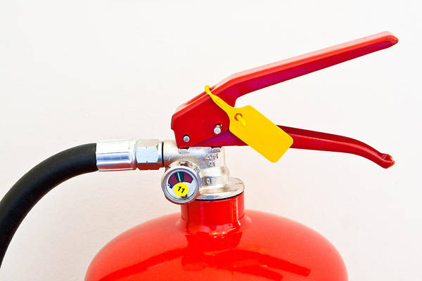 Security Service Photograph - Fire Extinguisher by Tom Gowanlock