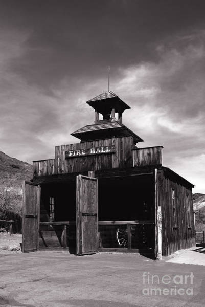 Photograph - Fire Hall In Calico Ghost Town California by Susanne Van Hulst
