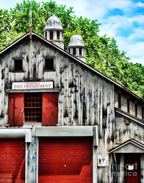 Fire Department Photograph - Fire House by HD Connelly